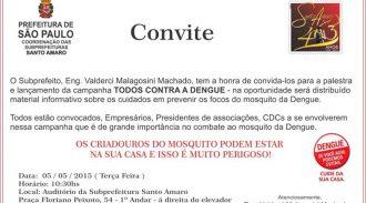 AESUL Apoia Campanha Contra Dengue Promovida Pela Subprefeitura Santo Amaro