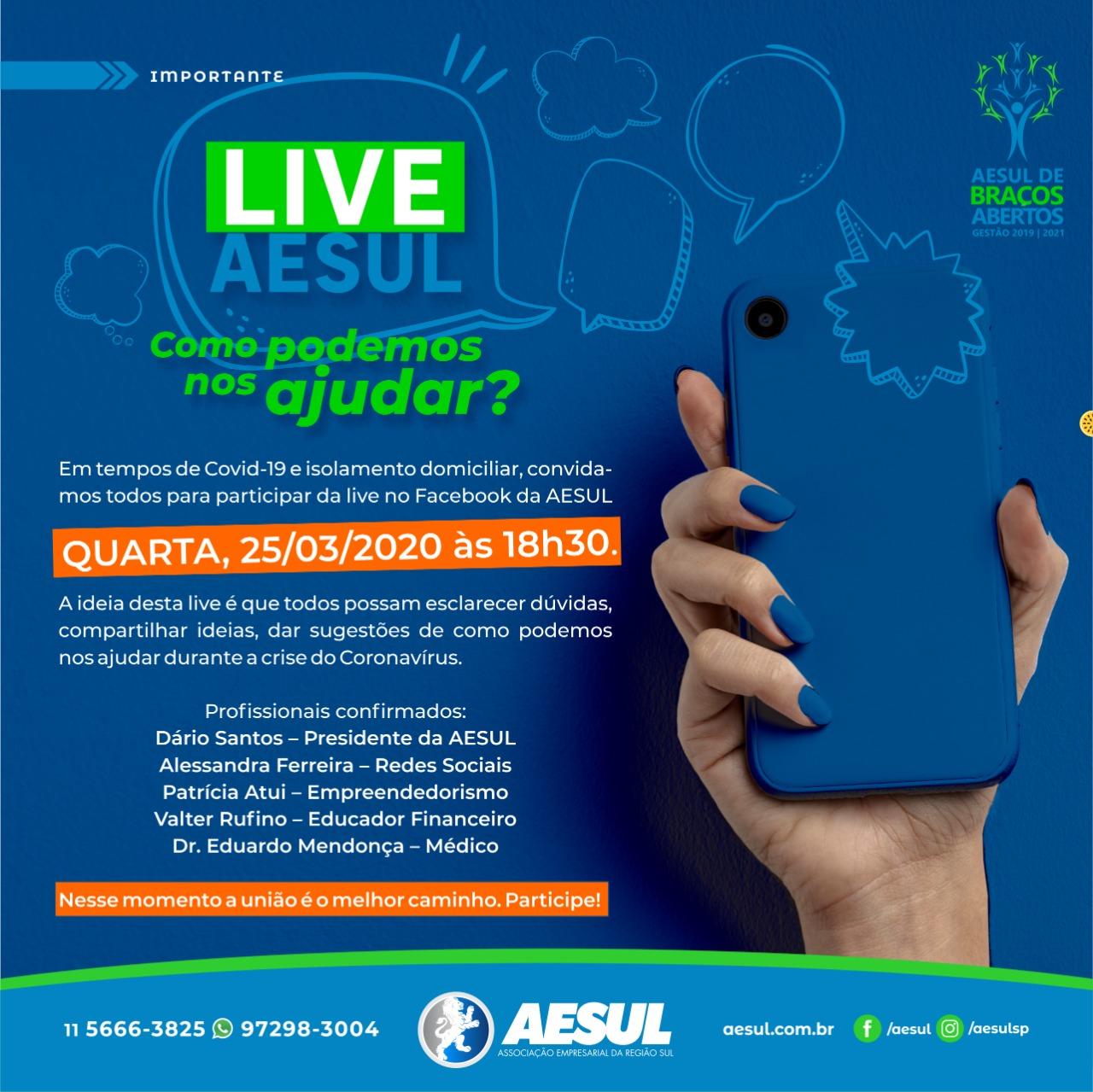Live AESUL – Como podemos nos ajudar?