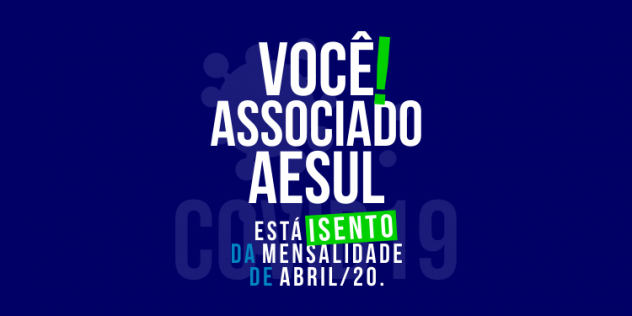 Isenção Da Mensalidade De Abril/2020