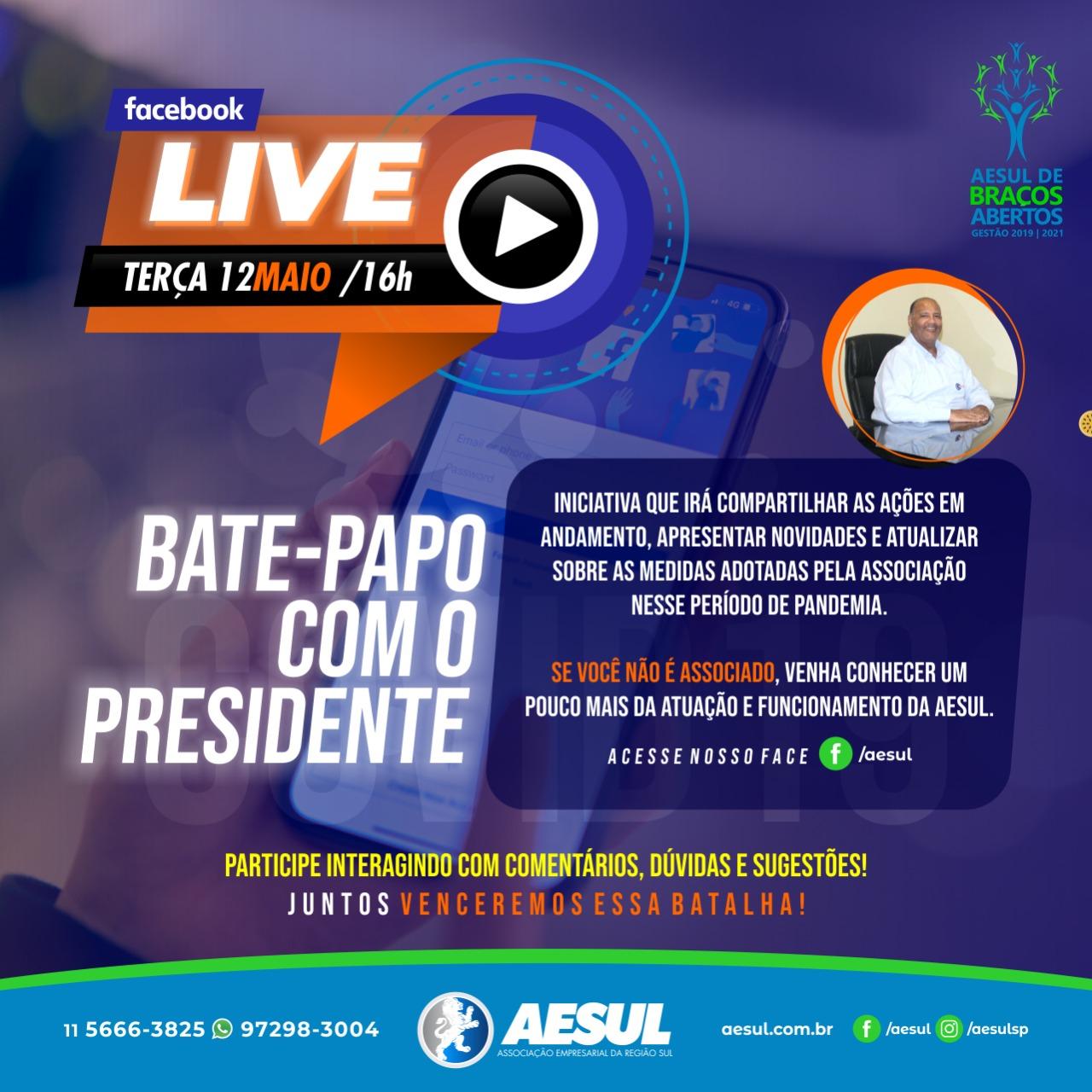 Live: bate-papo com o presidente