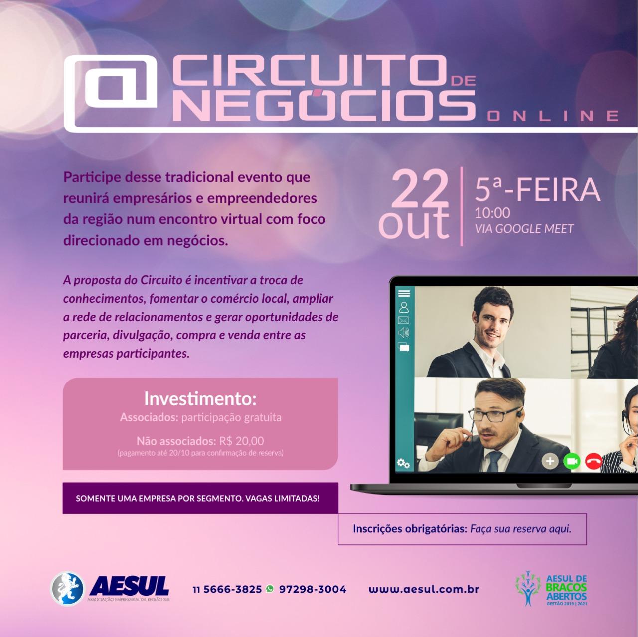 Circuito de Negócios Online – 3ª edição