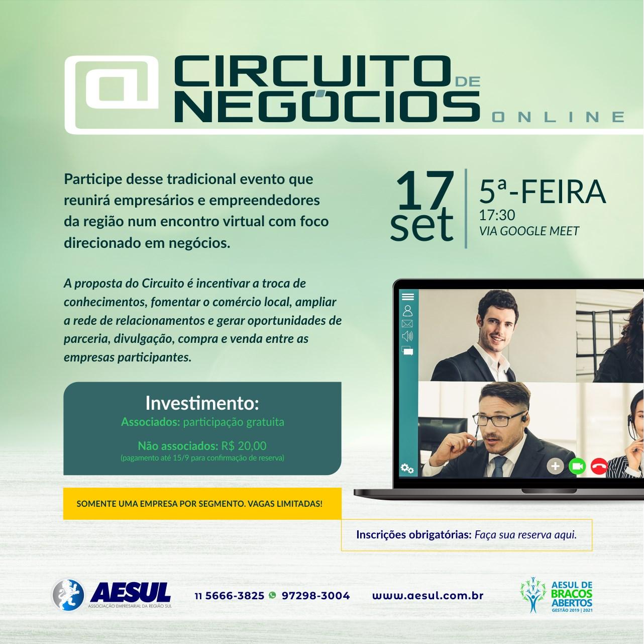 Circuito de Negócios Online – 2ª edição