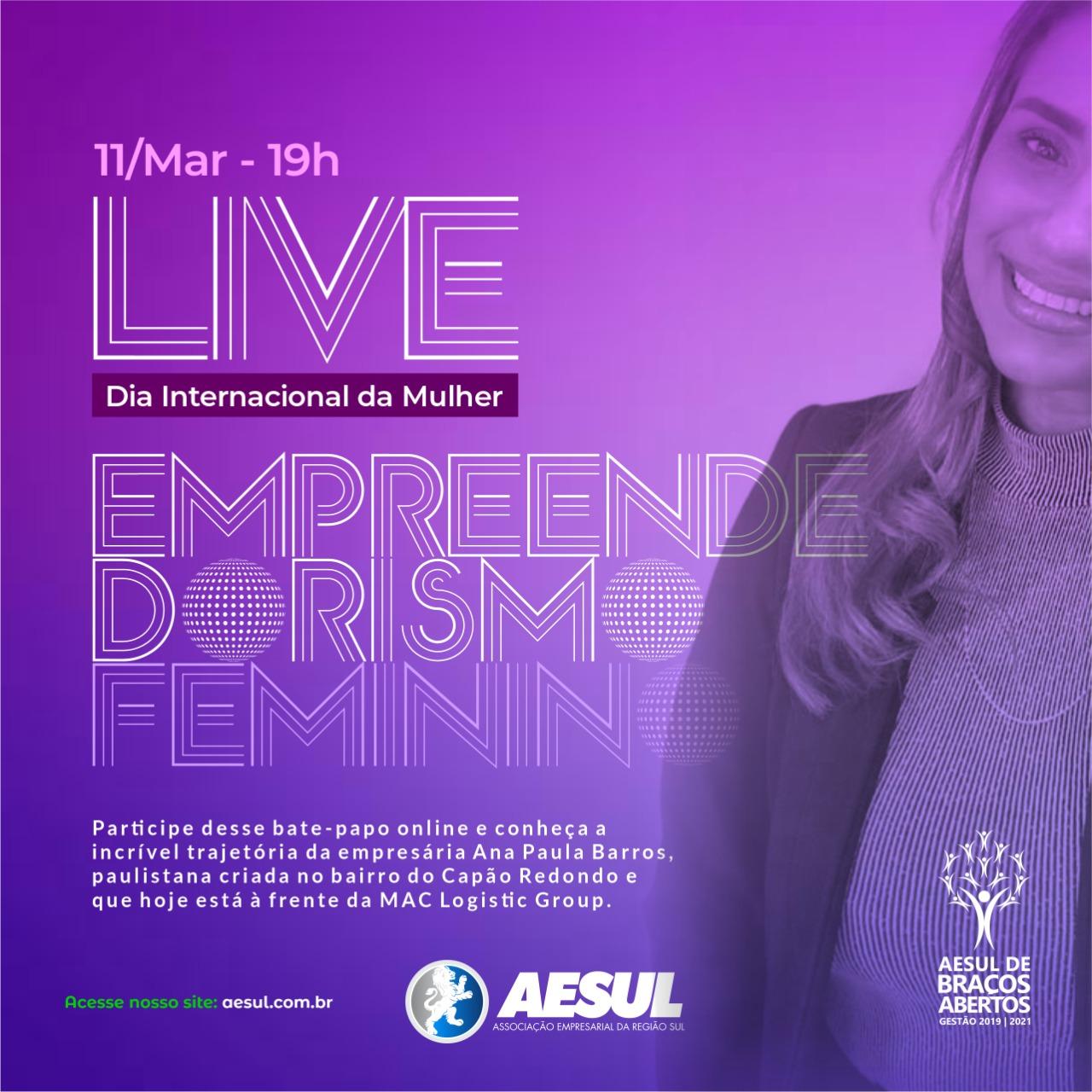 Live: Empreendedorismo Feminino – Evento da Mulher 2021