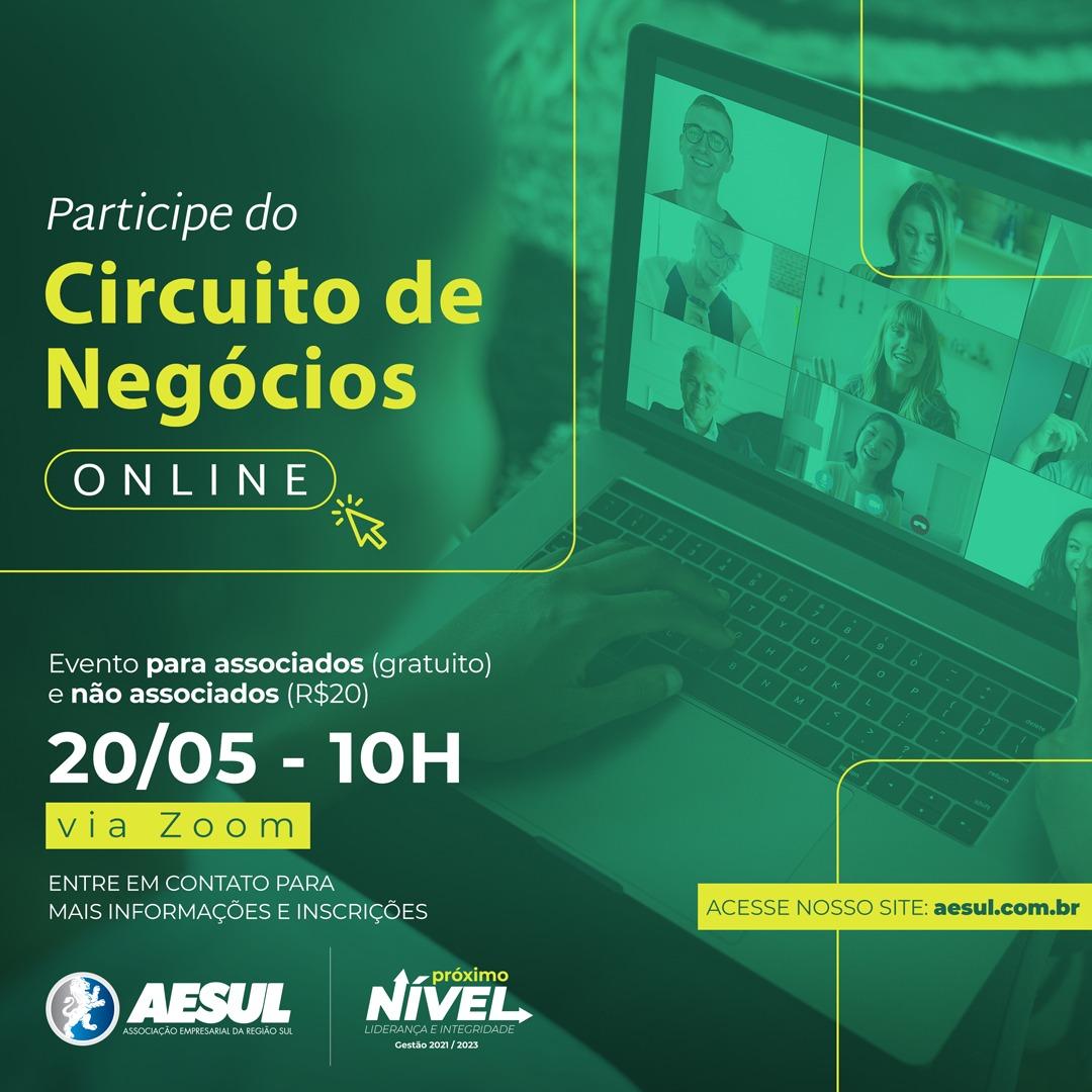 Circuito de Negócios Online – Edição de maio 2021