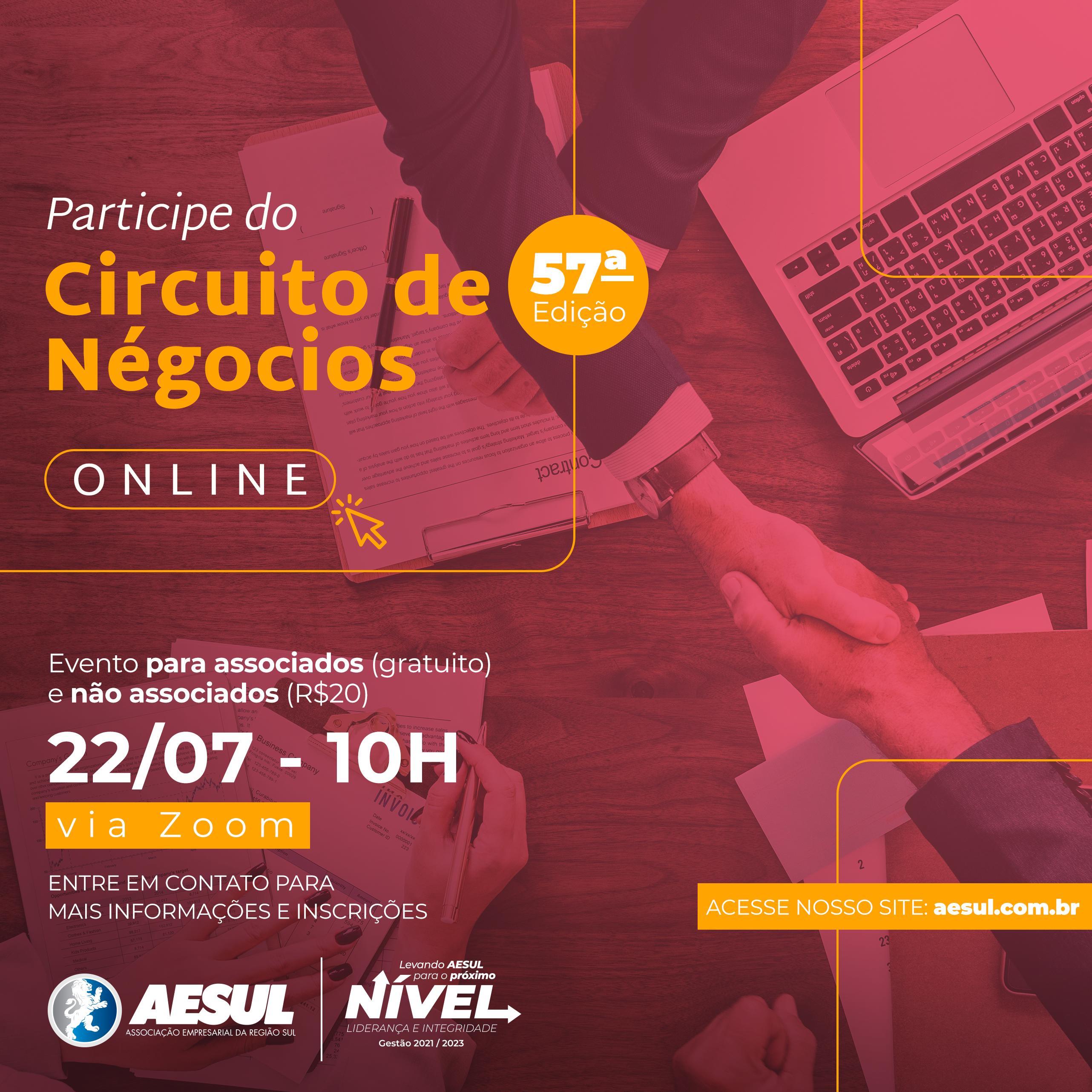 Circuito de Negócios AESUL Online – Edição de Julho